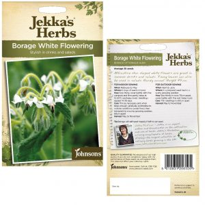 Jekka's Herbs – Borage White Flowering Seeds by Johnsons