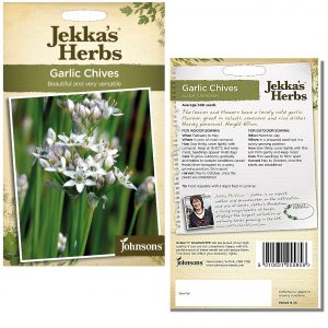 Jekka's Herbs – Garlic Chives Seeds by Johnsons