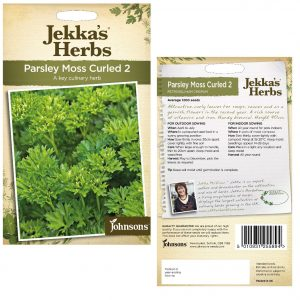 Jekka's Herbs – Parsley Moss Curled 2 Seeds by Johnsons