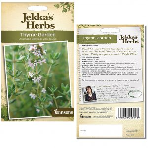 Jekka's Herbs – Thyme Common Garden Seeds by Johnsons