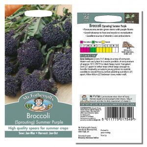Mr. Fothergill's Seeds – Broccoli (Sprouting) Summer Purple