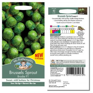 Mr. Fothergill's Seeds – Brussels Sprout Brodie F1