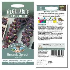 Mr. Fothergill's Seeds – Brussels Sprout Rubine