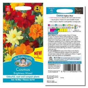 Mr. Fothergill's Seeds – Cosmos Brightness Mixed
