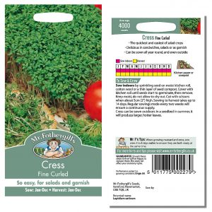 Mr. Fothergill's Seeds – Cress Fine Curled