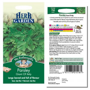 Mr. Fothergill's Seeds – Herb Garden – Parsley Giant of Italy