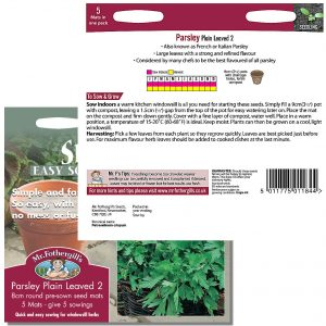 Mr. Fothergill's Seeds – Herb Garden Seed Mats – Parsley Plain Leaved 2