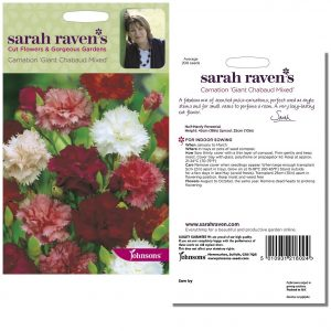 Sarah Raven's Carnation 'Giant Chabaud Mixed' Seeds by Johnsons