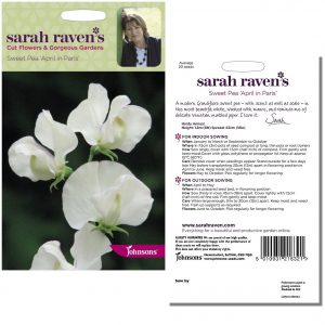 Sarah Raven's Sweet Pea 'April in Paris' Seeds by Johnsons