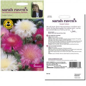 Sarah Raven's Sweet Sultan Seeds by Johnsons
