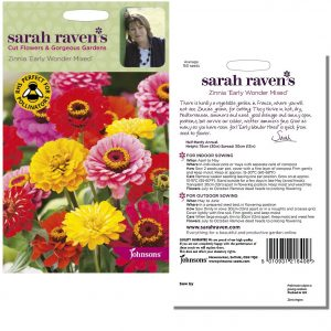 Sarah Raven's Zinnia 'Early Wonder Mixed' Seeds by Johnsons