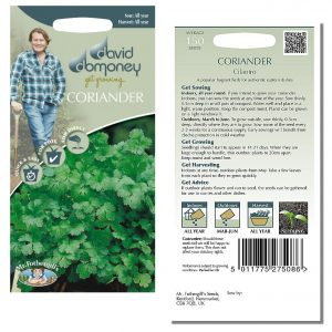 David Domoney (Mr. Fothergill's) Seeds – Coriander Cilantro