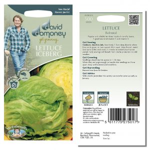 David Domoney (Mr. Fothergill's) Seeds – Lettuce (Iceberg) Balmoral