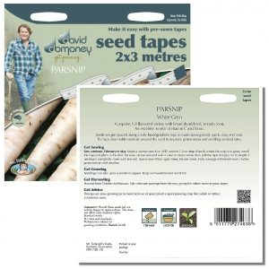 David Domoney (Mr. Fothergill's) Seeds – Parsnip White Gem Seed Tapes