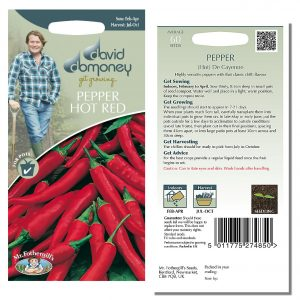 David Domoney (Mr. Fothergill's) Seeds – Pepper (Hot Red) De Cayenne