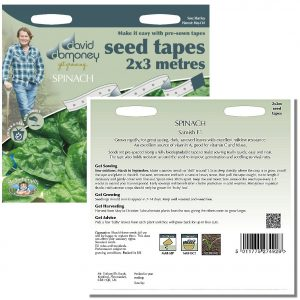 David Domoney (Mr. Fothergill's) Seeds – Spinach Samish F1 Seed Tape