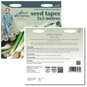 David Domoney (Mr. Fothergill's) Seeds – Spring Onion White Lisbon Seed Tape