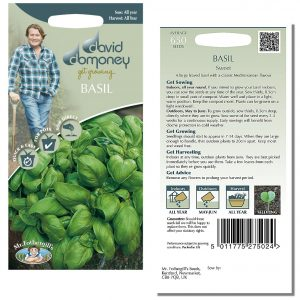 David Domoney (Mr. Fothergill's) Seeds – Basil Sweet