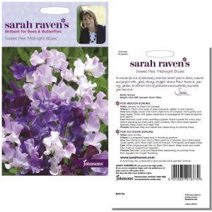 Sarah Raven's Sweet Pea 'Midnight Blues' Seeds by Johnsons