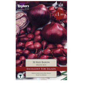 Taylors Bulbs – Red Baron Pre-packed Onion Sets – Pack of 50