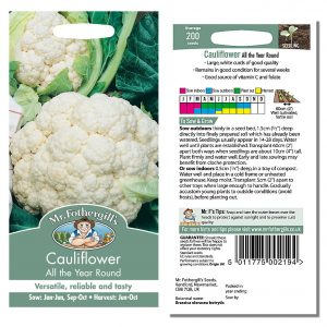 Mr. Fothergill's Seeds – Cauliflower All the Year Round